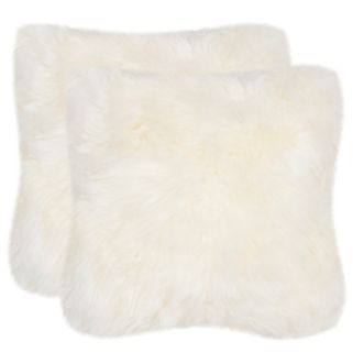Safavieh 2-piece Faux Arctic Fox Throw Pillow Set