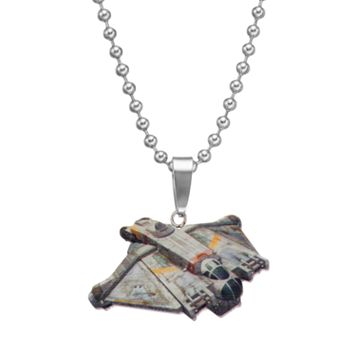 Star Wars Stainless Steel Ghost Ship Pendant Necklace