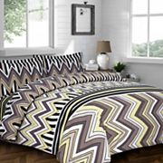 Chevron Stripe 3 pc Flannel Luxury Duvet Cover Set