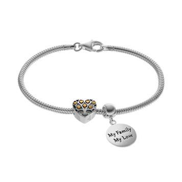 Individuality Beads Sterling Silver & 14k Gold Over Silver Shake Chain Bracelet,