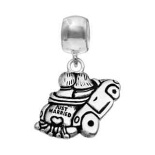 """Individuality Beads Sterling Silver """"Just Married"""" Car Charm"""