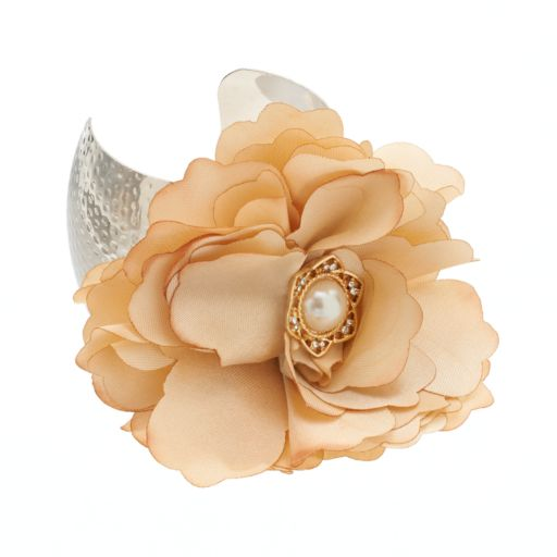 GS by gemma simone Fresh Cut Flowers Collection Hammered Cuff Bracelet