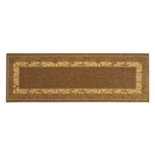 Safavieh Courtyard Leaves Framed Indoor Outdoor Rug