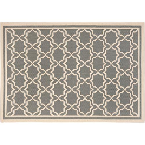 Safavieh Courtyard Geometric Lattice Indoor Outdoor Rug