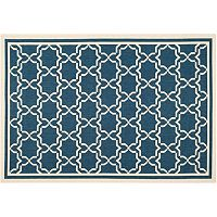 Safavieh Courtyard Geometric Lattice Indoor Outdoor Rug
