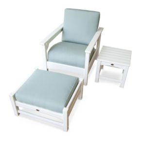 POLYWOOD® Club 3-piece Deep Seating Outdoor Patio Set