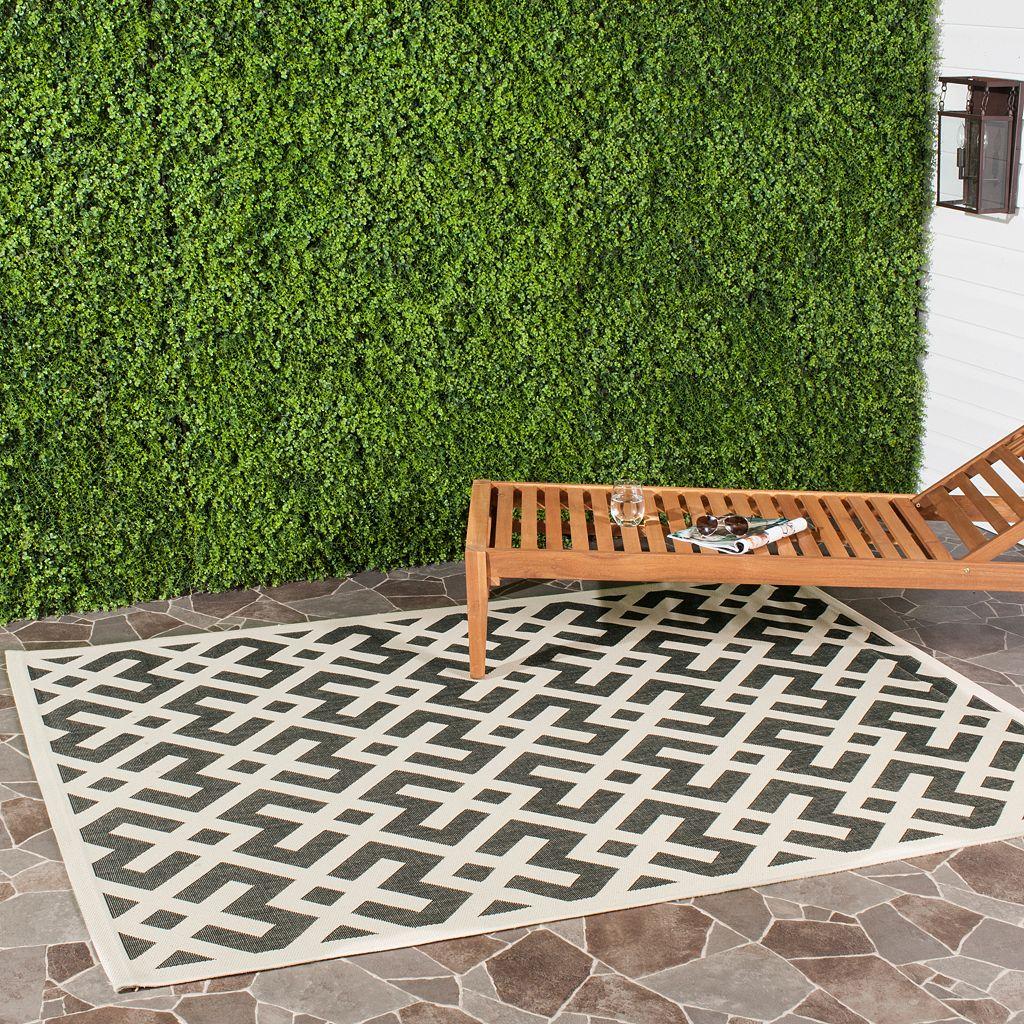 Safavieh Courtyard Geometric Indoor Outdoor Rug