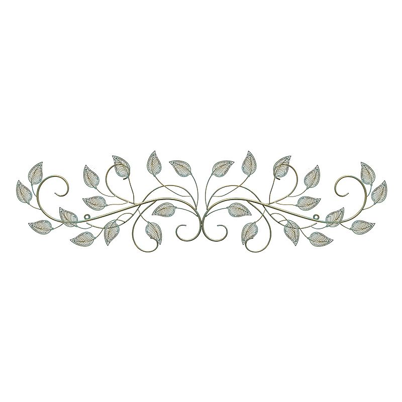 Stratton Home Decor Patina Scroll Leaf Metal Wall Art ~ Leaves metal wall decor kohl s