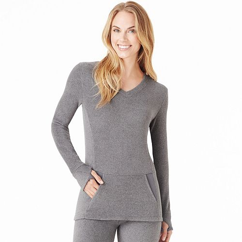 feaabbb9adb17a Women's Cuddl Duds Fleecewear with Stretch V-Neck Top