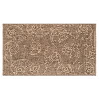 Safavieh Courtyard Swirl Indoor Outdoor Rug