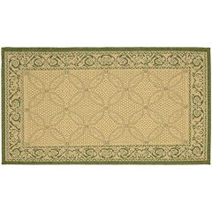 Safavieh Courtyard Framed Border Indoor Outdoor Rug