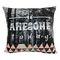 Simple By Design ''Be Awesome Today'' Throw Pillow