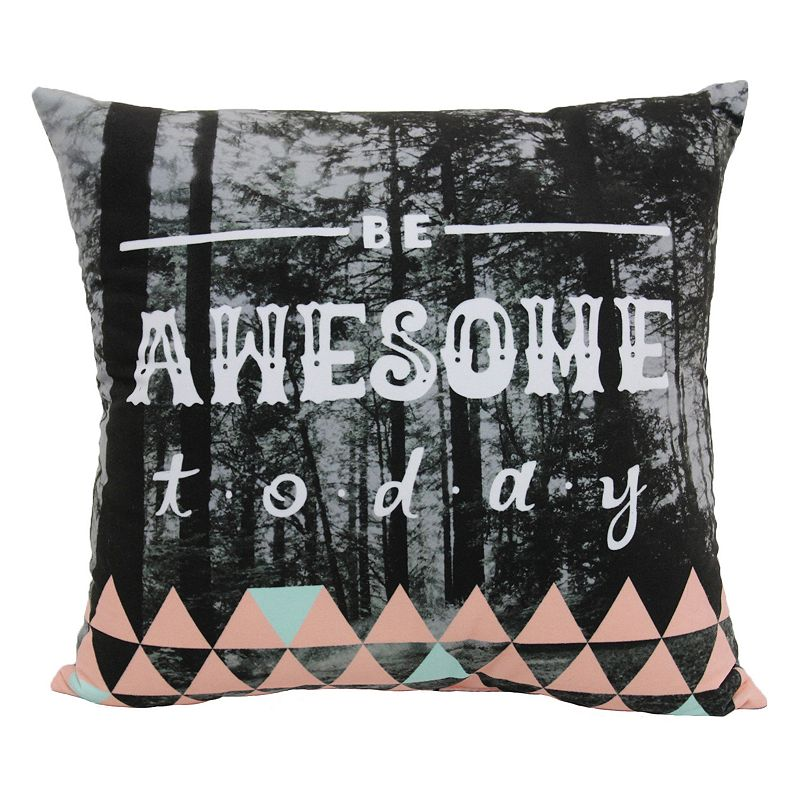 Kohls Black Decorative Pillow : Black Polyester Throw Pillow Kohl s