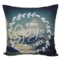 Simple By Design ''Find Joy'' Throw Pillow