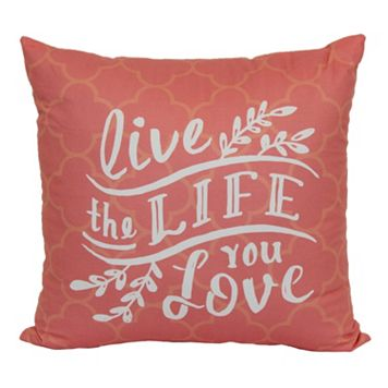 Simple By Design ''Live The Life'' Throw Pillow