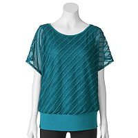 AB Studio Textured Banded-Bottom Top - Women's