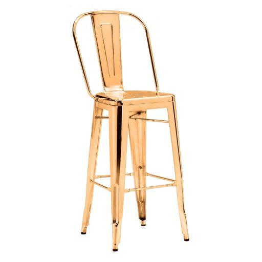 Zuo Era Elio Metallic Bar Chair 2-piece Set