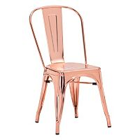 Zuo Era Elio Metallic Dining Chair 2-piece Set