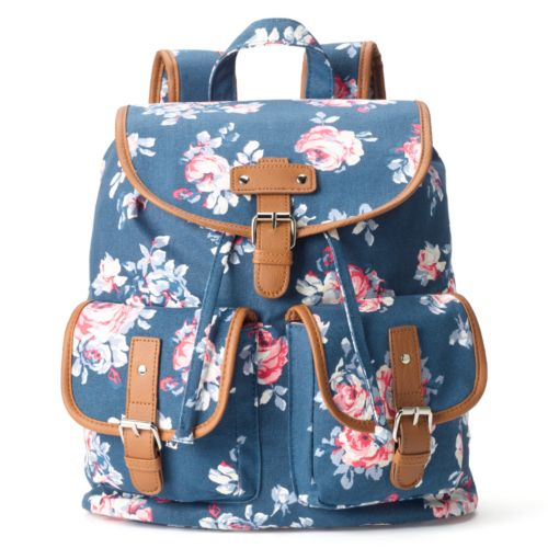 Candie's® Parker Denim Roses Backpack