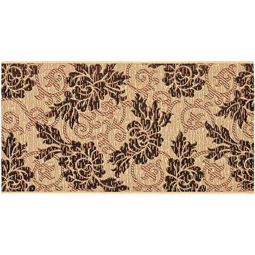 Safavieh Courtyard Scroll Leaf Indoor Outdoor Rug