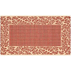 Safavieh Courtyard Leaves Wide Border Indoor Outdoor Rug