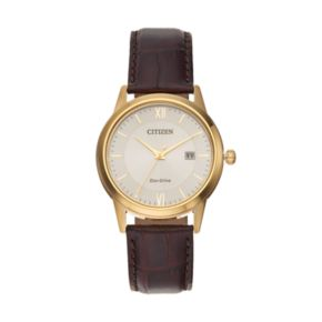 Citizen Eco-Drive Men's Leather Watch - AW1232-04A