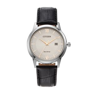 Citizen Eco-Drive Men's Leather Watch - AW1236-03A