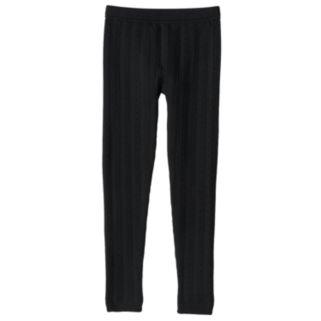 Girls 7-16 Cable-Knit Fleece-Lined Leggings