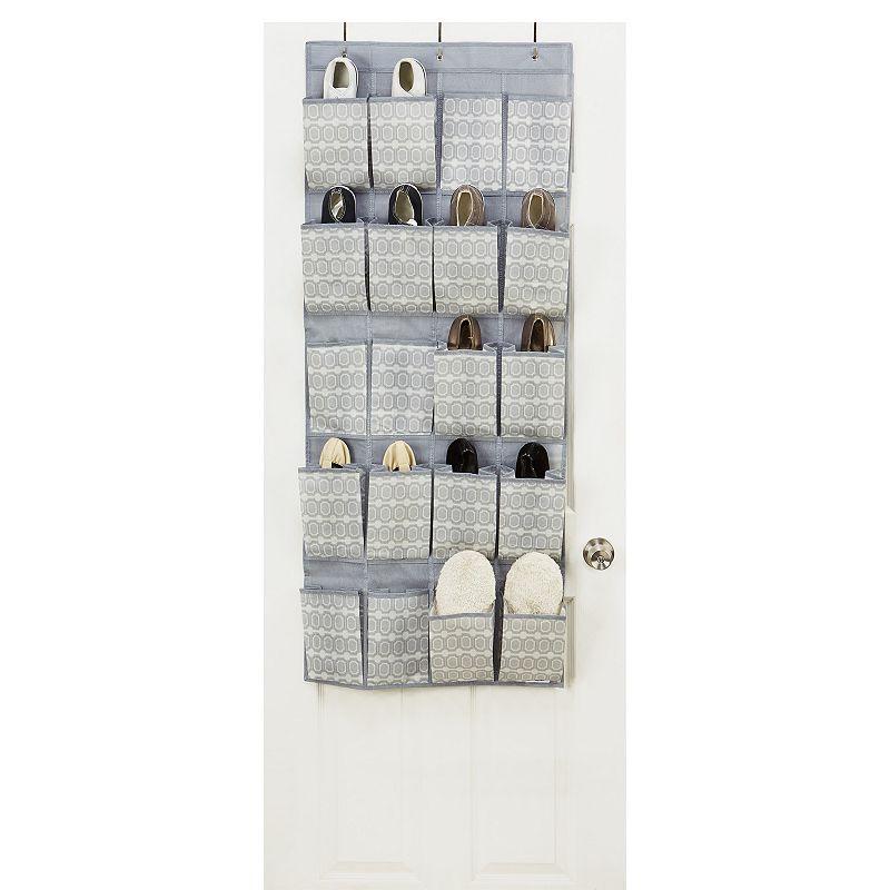 Sedafrance bon chic tile 20 pocket over the door shoe for 12 pocket over the door shoe organizer
