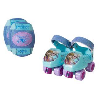 Disney's Frozen Glitter Roller Skates & Knee Pads Set - Girls