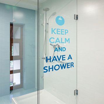 Home Decor Line ''Keep Calm & Shower'' Wall Decal