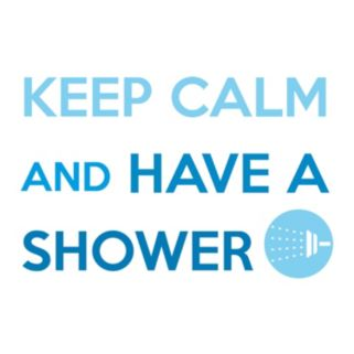 Home Decor Line ''Keep Calm and Shower'' Wall Decal