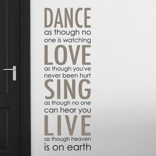 Home Decor Line Dance Love Sing Live Wall Decal