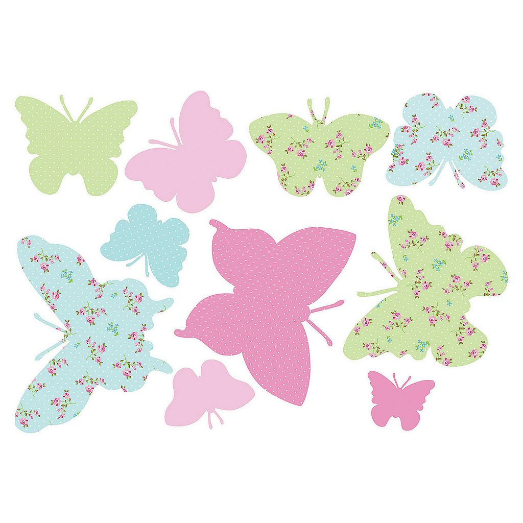 Fun4Walls Butterflies Wall Decal Set