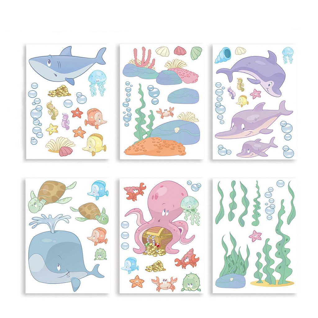 Walltastic Baby Under the Sea Wall Decal Set