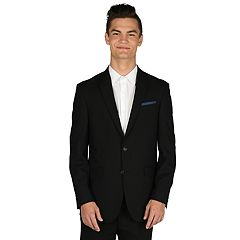 Men's Billy London Slim-Fit Black Suit Jacket