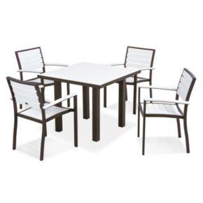 POLYWOOD® Euro 5-piece Outdoor Dining Set