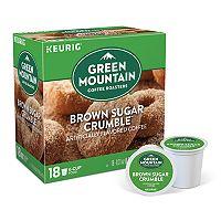 Keurig® K-Cup® Pod Green Mountain Brown Sugar Crumble Donut Medium Roast Regular Coffee - 18 pk
