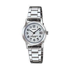 Casio Women's Classic Stainless Steel Solar Watch - LTPS100D-7BVCF
