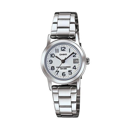 Casio Women's Classic Stainless Steel Solar Watch - LTPS100D-7BVCF