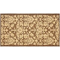 Safavieh Courtyard Decorative Leaf Indoor Outdoor Rug