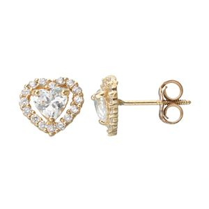 Junior Jewels 14k Gold Cubic Zirconia Erfly Stud Earrings Kids