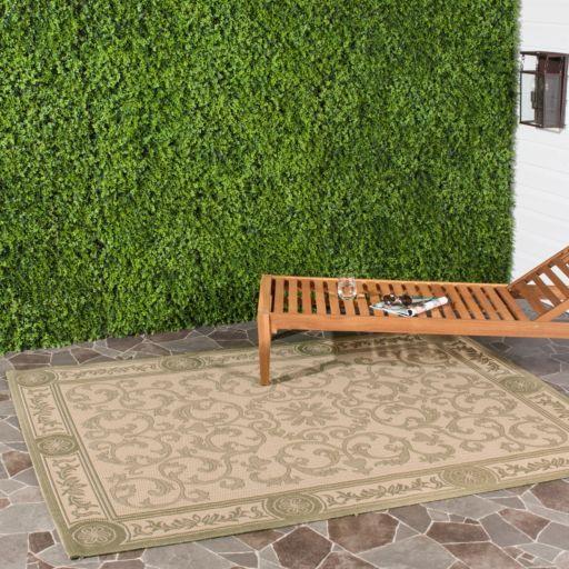 Safavieh Courtyard Vines Olive Indoor Outdoor Rug