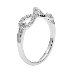 Diamond Splendor Cubic Zirconia & Diamond Accent Sterling Silver Infinity Ring