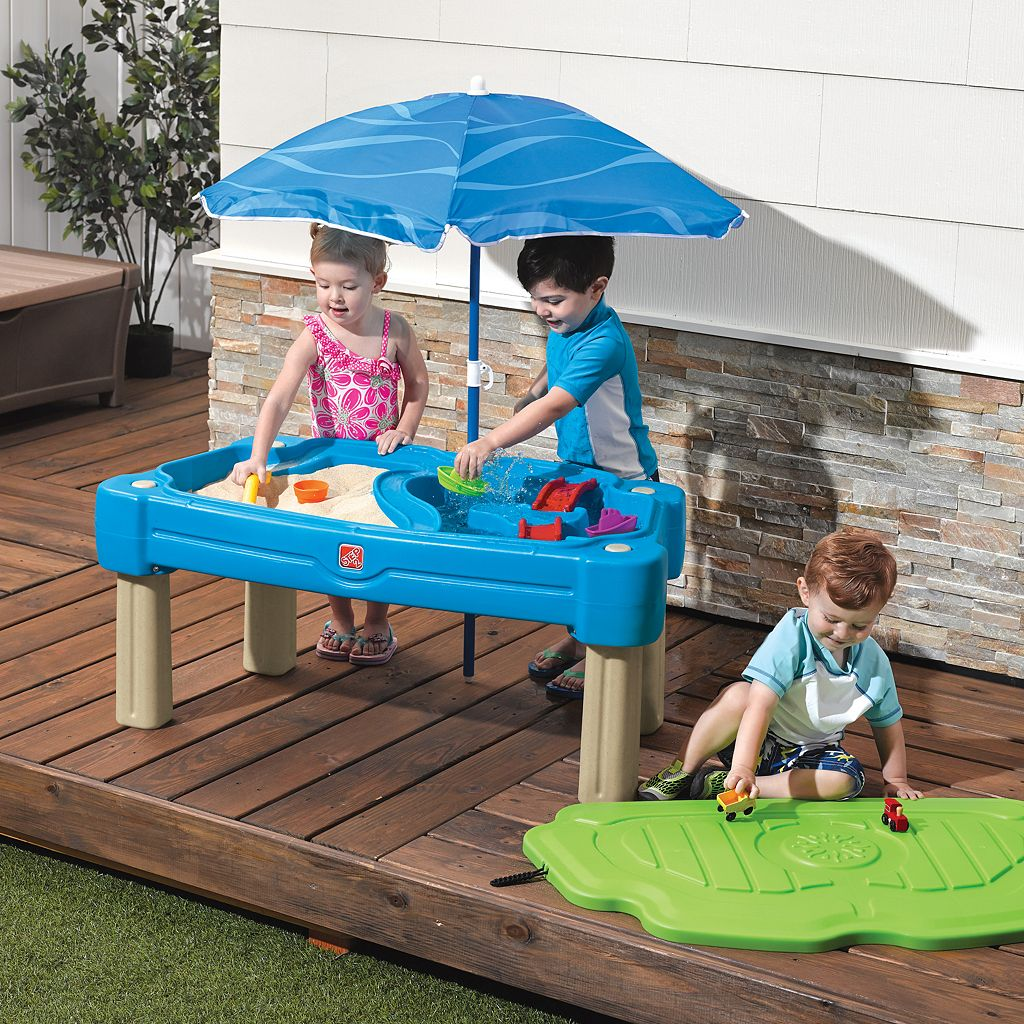 Step2 Cascading Cove Sand & Water Table with Umbrella