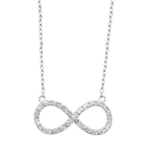 Diamond Essence Crystal & Diamond Accent Sterling Silver Infinity Necklace - Made with Swarovski...