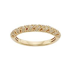 1/4 Carat T.W. IGL Certified Diamond 14k Gold Art Deco Wedding Ring
