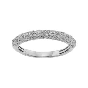 1/5 Carat T.W. IGL Certified Diamond 14k Gold Art Deco Wedding Ring