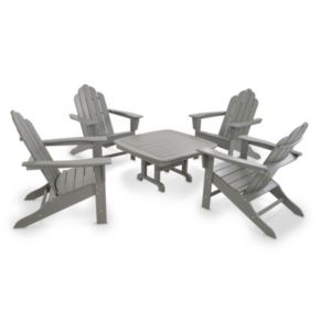 POLYWOOD® Long Island Adirondack 5-piece Outdoor Table Set