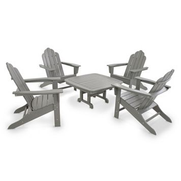 POLYWOOD® Long Island Adirondack 5-piece Outdoor Table Set